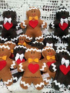 Toka da Arte Atelier: Boneco Biscoito - Ginger em feltro!
