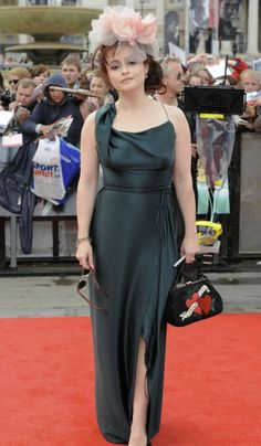 """Stylish    Helena Bonham Carter on the red carpet for the World premiere of """"Harry Potter And The Deathly Hallow Part 2"""" at Trafalgar Square in London."""