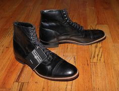 NWT STACY ADAMS MADISON BOOT SHOEBox not included…Black Leather Ankle Lace Up Boots Sz 10.5 Small scuff mark near left inner toe area. Fast Shipping! Smoke Free Home! http://tllg.net/qp5K