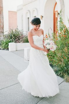 This dress: http://www.stylemepretty.com/little-black-book-blog/2015/02/24/whimsical-romantic-wente-vineyards-wedding/ | Photography: Onelove - http://www.onelove-photo.com/