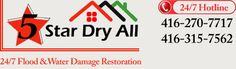 5 Star Dry All,  24/7 Flood Emergency & Water Damage Restoration services: ★ Flood & Water Damage Restoration   ★ Restoration & Repair after Drying   ★ Wet or Dry Rug Cleaning   ★ Equipment Rental for Drying   ★Mold Inspection & Remediation Services