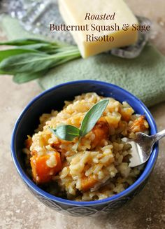 Roasted Butternut Squash Risotto. Amazing fall flavor without the fuss!