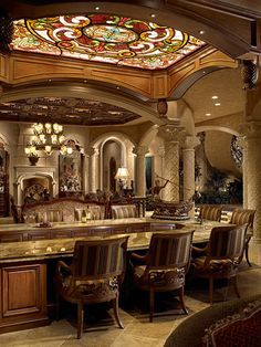 Opulent 33,000 Square Foot Oceanfront Mega Mansion In North Palm Beach, Florida $15.1 million by Clive Christian Luxury Furniture & Cabinets.