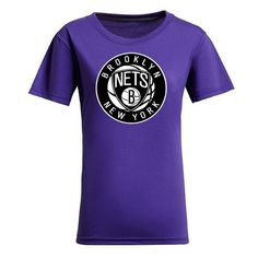 cool NBA Ladies' Brooklyn Nets Cotton Jersey Tee (Purple)
