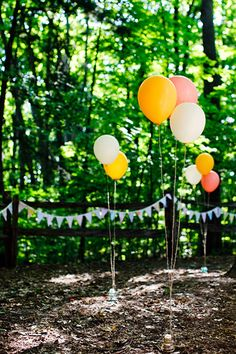 Or if we don't get the crazy chandeliers.. I suppose baloons could be cute!