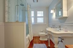 Country-inspired main bathroom. 307 Hart Avenue, Burlington