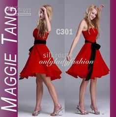 Online Shop sleeveless little red bridesmaid. dress Hot selling ----Sexy Aliexpress Mobile