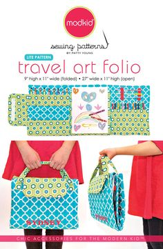 Our Travel Art Folio is perfect for kids of all ages! It holds 12 colored pencils, 9 crayons, 3 gel pens or mechanical pencils, an 8 x 10 paper pad (or