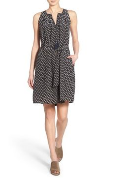 Madewell 'Ville - Coin Tile' Silk Dress available at #Nordstrom