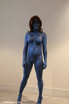 Opinion mystique cosplay body paint nude variants