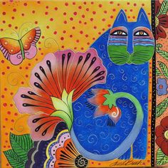 Blossoming Spirit Cats - Laurel Burch