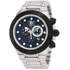 Invicta 1527 Men's Subaqua Sport Black Bezel Black Dial Stainless Steel Chronograph Watch