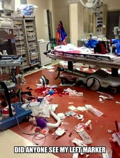 Life as a rad tech in a trauma center!