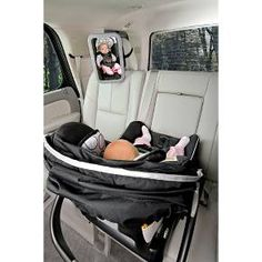 The BRITAX Back Seat Mirror provides a view of your rear-facing baby at any angle while allowing installation to adjacent vehicle head restraints. The shatter-proof, extra large mirror is convex to reflect a head-to-toe view of baby. The adjustable attach The Babys, Baby Necessities, Baby Essentials, Baby Kind, Baby Love, Baby Baby, Baby Girls, Shower Bebe, Baby Gadgets