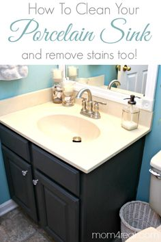 How To Get a Clean Porcelain Sink and Remove Rust Stains Too!