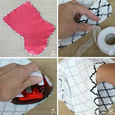 DIY no-sew stocking project. #DIY #Holidays