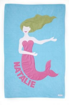 Personalized Mermaid Kids Blanket