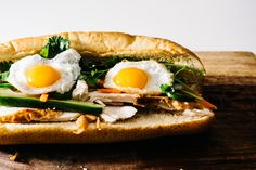 Sunday Brunch: Egg & turkey banh mi