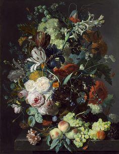 Хейсум, Ян ван - Натюрморт с цветами и фруктами.