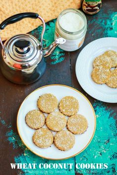 WHOLE WHEAT COCONUT COOKIES | EGGLESS SUGAR-LESS COCONUT COOKIES RECIPE