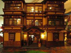 Japanese Dolls' House (Ryokan in Stile Giapponese): Intermediate Work: Lighting the Dollshouse Part 1 Japanese Home Design, Japanese House, Dollhouse Kits, Dollhouse Miniatures, Restaurant Facade, Fairy Houses, Doll Houses, D House, Fantasy House
