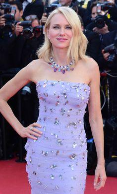Naomi Watts in Bulgari jewelry at the 69th Annual Cannes Film Festival
