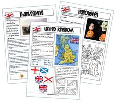 "Fiches ""civilisation"" The United Kingdom, the USA, English breakfast… English Resources, English Lessons, English Class, Esl Resources, English Activities, Learning English For Kids, Teaching English, English Time, Learn English"