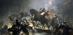 Guild Wars 2 Battle by ruan_jia (Ruan Jia) - Digital ArtLords