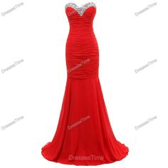 Red prom dress  long prom dress / red evening dress by dressestime, $179.99