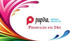 Bom dia! Acesse nossa Gráfica virtual e confira. Trabalhamos com os melhores preços do mercado. www.papira.com.br
