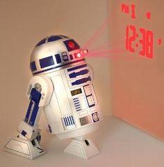 "Star Wars Merchandise - R2D2 LED Alarm Clock (Size: 5\"" x 6\"")"