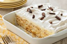 Easy Banana Pudding. I use crackers instead!  Everyone thinks it is fine pastry.