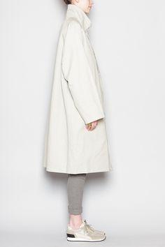 Totokaelo - Christophe Lemaire - Overcoat - Ash Grey (shape)