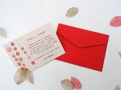 invitacion sobre rojo