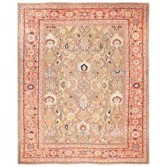Large Antique Zigler Sultanabad Persian Rug