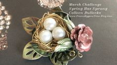 Spring Has Sprung March 2016 Challenge.  Not on my Etsy shop yet, but soon!  B'sue flowers and leaves throughout.