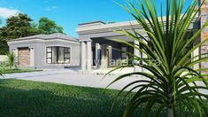 4 Bedroom House Plan - My Building Plans South Africa 4 Bedroom House Plans, My House Plans, My Building, Building Plans, Architect Fees, Construction Drawings, Open Plan, Windows And Doors, South Africa