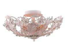 @rosenberryrooms is offering $20 OFF your purchase! Share the news and save!  Blush Wrought Iron Semi-Flush Mount with Hand Polished Crystals #rosenberryrooms
