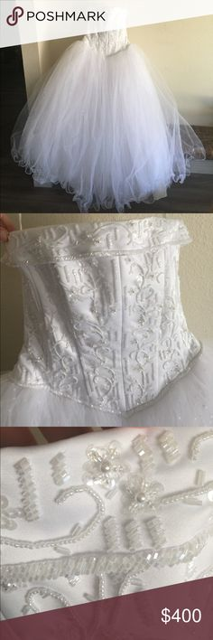 Unique Beautiful Davids Bridal Wedding Dress
