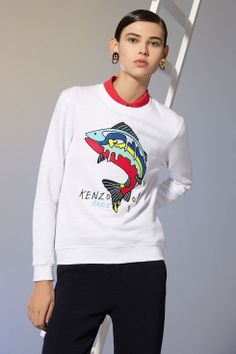 KENZO sweat-shirt fish poisson sweatshirt pull embroidered embroidery Place des Lices, La Rochelle