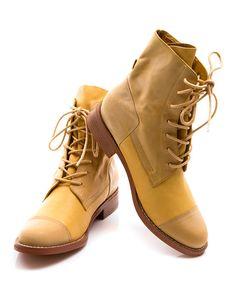 Yellow Leather Bijoux Boot