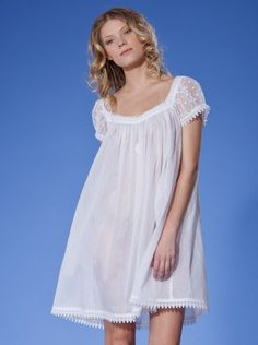 Does anyone wear a nightgown anymore  So pretty. White Nightgown 2fd6cbc22