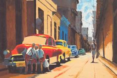 Shop for ''Cuban Street Scene'' by Samuel Toranzo Latino Art Print x in. Get free delivery On EVERYTHING* Overstock - Your Online Art Gallery Store! Artwork Prints, Poster Prints, Posters, Framing Canvas Art, Latino Art, Caribbean Art, African American Art, Large Art, Online Art Gallery