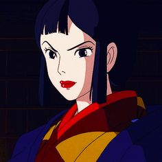 Lady Eboshi [gif] Black Anime Characters, Disney Characters, Isao Takahata, Iron Fortress, Pink Milk, Studio Ghibli Movies, Japanese Film, Howls Moving Castle, Hayao Miyazaki