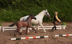 Hanoverian Mare and Foal | Customized Schleich Model horses. The models and the picture are my property!