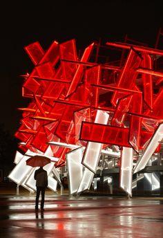 Coca-Cola Beatbox Pavilion designed by Pernilla & Asif
