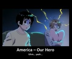Hetalia ~ America...He's still my hero for being so adorable! :) <3