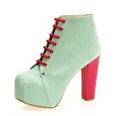 İssimo Shoes Turkuaz Platform Topuklu Ayakkabı