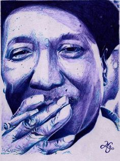 Muddy Waters (Bic sobre papel Canson)
