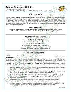 Art Teacher Resume Sample - Page 1